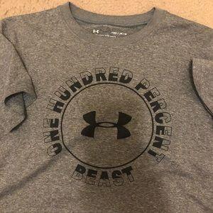 4-Boys size Medium Under Armour tee shirts